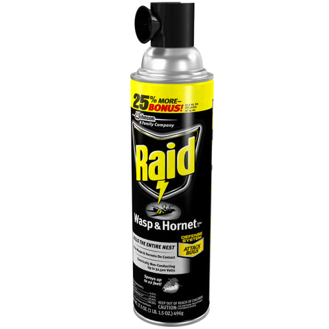 RAID WASP & HORNET INSECT REPELLENT 17.5OZ 12Pack