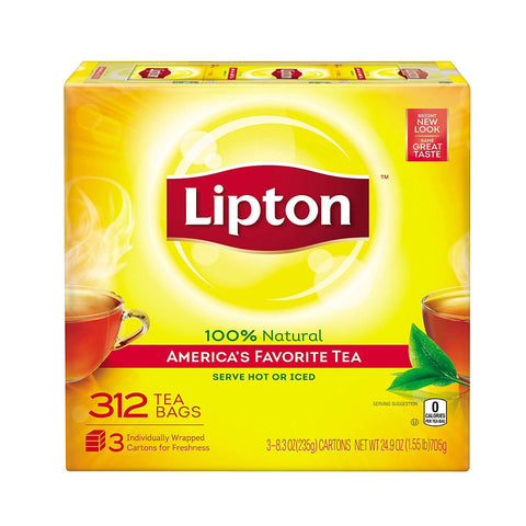 LIPTON TEA BAGS-  312 COUNT