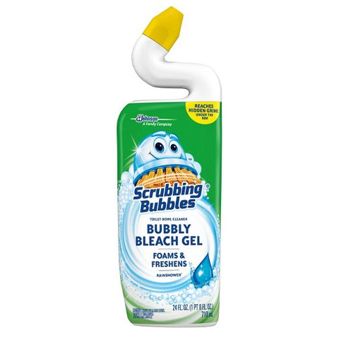 SCRUBBING BUBBLES TOILET BOWL GEL CLEANER BB RAIN SHOWER SCENT  24OZ 9Pack