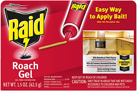RAID ROACH KILLER GEL 1.5OZ 8Pack