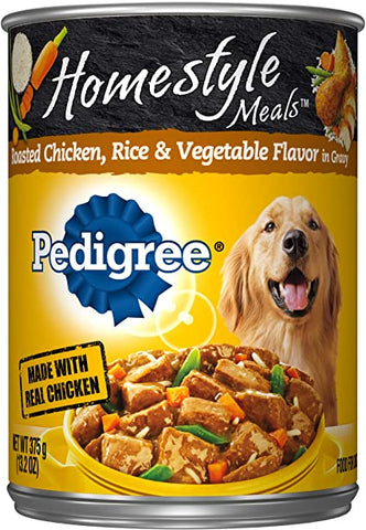 PEDIGREE HOMESTYLE RICE &VEG DOG FOOD  CAN 13.2OZx12Pack