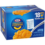 KRAFT MACARONI & CHEESE DINNER 7.25OZ x 18 BOXES