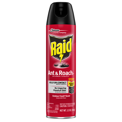 RAID ANT & ROACH INSECT REPELLENT 12OZx12Pack