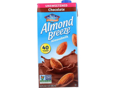 BD ALMOND BREEZE CHOCOLATE 32oz x 12Pack