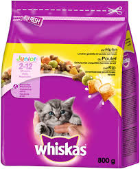 WHISKAS JUNIOR DRY CAT FOOD 800GX5Pack
