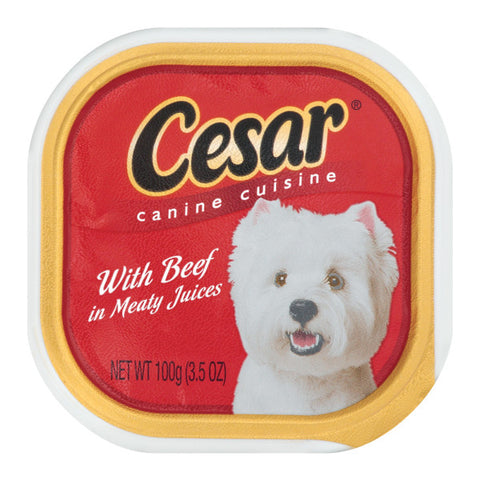 CESAR CANINE FOOD BEEF 3.5OZ - 24Pack