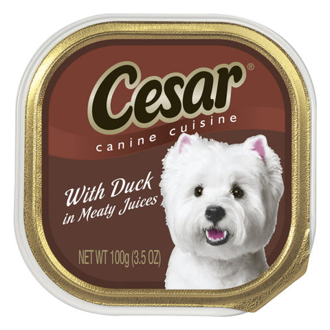 CESAR CANINE DINNER DUCK 3.5OZ - 24Pack