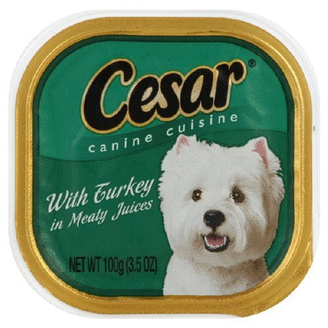 CESAR CANINE FOOD TURKEY 3.5OZ - 24Pack