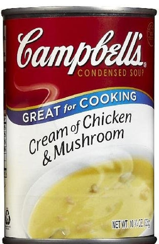CAMPBELL CREAM OF CHICKEN MUSHROOM CAN 10.75 oz x 12 Pack