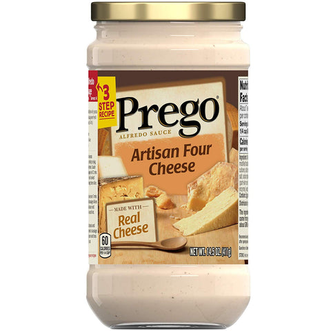 PREGO 4 CHEESE ARTISAN SAUCE 14OZ (6 PACK) | Divico Cash & Carry Sint Maarten