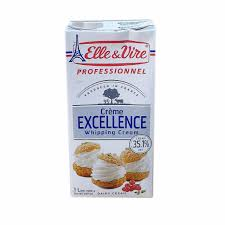 ELLE & VIRE EXCELLENCE WHIPPING CREME 1 Liter x 12 Packs
