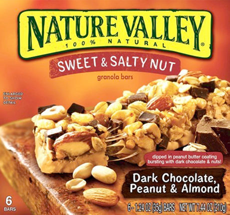 NV GRANOLA BARS SWEET & SALTY DARK CHOCOLATES 7.4oz 6Pack x 12Pack