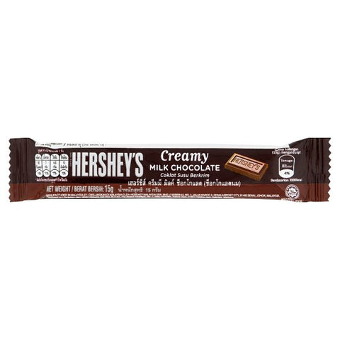 HERSHEY'S MINI MILK CHOCOLATE BAR 15gx24Pack