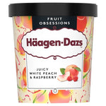 HÄAGEN-DAZS PINT WHITE PEACH & RASPBERRY (8X 460ML)