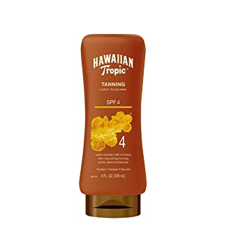 HAWAIIAN TROPIC TANNING LOTION SPF4  8OZ/12