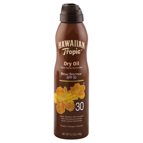 HAWAIIAN TROPIC DRY OIL C-SPR SPF30 6OZ/12CS