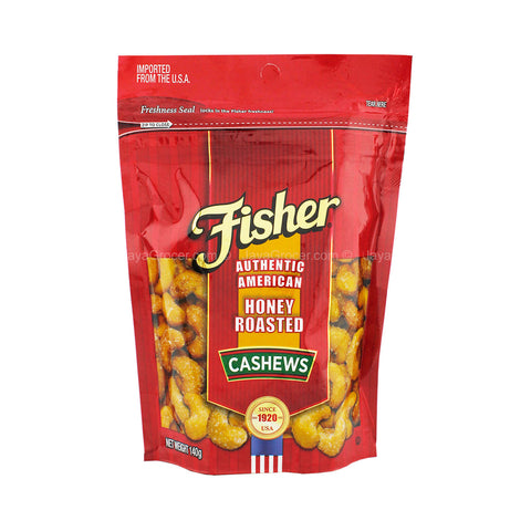 FISHER CASHEW NUTS HONEY ROASTED 140G | Divico Cash & Carry Sint Maarten