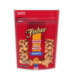 FISHER HONEY ROASTED PEANUTS 140G | Divico Cash & Carry Sint Maarten