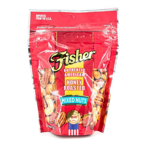 FISHER MIXED NUTS HONEY ROASTED 130G | Divico Cash & Carry Sint Maarten