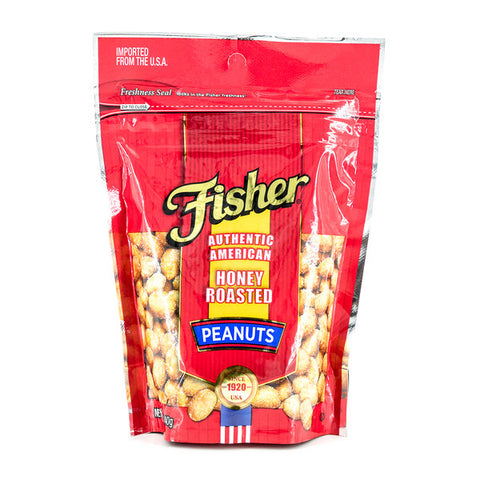 FISHER PEANUTS ROASTED SALTED 140G | Divico Cash & Carry Sint Maarten