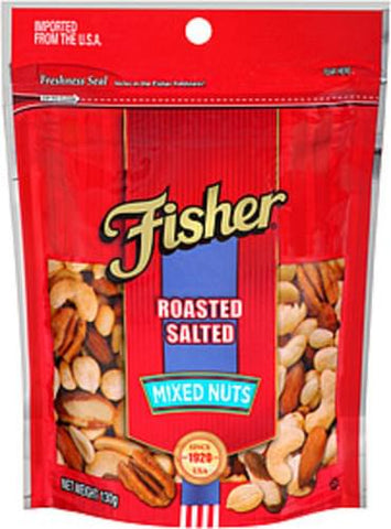 FISHER MIXED NUT ROASTED SALTED 130G | Divico Cash & Carry Sint Maarten