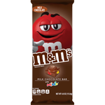 M&M MILK CHOCOLATE BAR  4OZ x 12 Pack