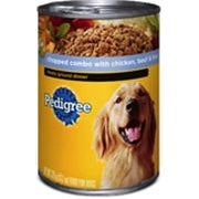 PEDIGREE CHOPPED CHICKEN, BEEF & LIVER 22oz x 12Pack