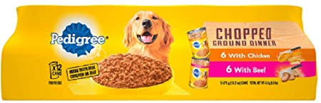 PEDIGREE CHOPPED CHICKEN & BEEF COMBO 13.2oz x 12 CANS