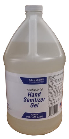 UNSCENTED HAND SANITIZER GEL x 1 Gallon