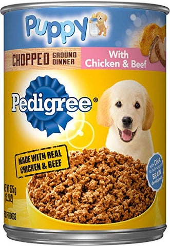 PED PUPPY CHICKEN & BEEF13.2oz- 12Pack
