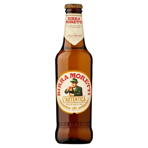 MORETTI BIRRA BOTTLE 33CL 24 PK