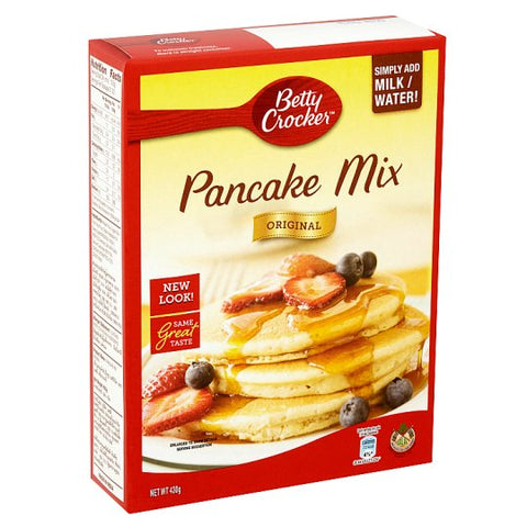 BETTY CROCKER PANCAKE & WAFFLE MIX COMPLETE 450g x 12 Pack