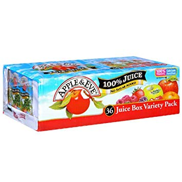 APPLE & EVE JUICE BOXES 100% 6.75 OZ x 36 Variety Pack