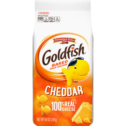 PEPPERIDGE FARM GOLD FISH CHEDDAR 6.6oz x 24Pck