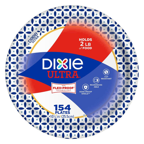 "DIXIE PLATE DINNER 10"" (154 CT)"