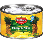 DEL MONTE PINEAPPLE SLICES IN SYRUP (12 x 8oz)