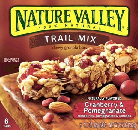 NV GRANOLA BARS CHEWY CRANBERRY &POMEGRANATE 8.9ozx6PK (12x6Pack)