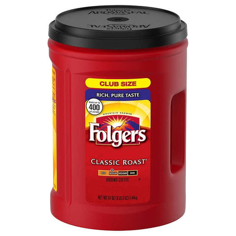FOLGERS CLASSIC ROAST COFFEE  51OZ