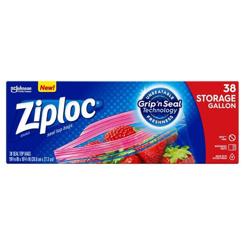 ZIPLOC STORAGE GALLON (9 x 38CT)