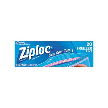 ZIPLOC FREEZER QUART (12 x 20CT)