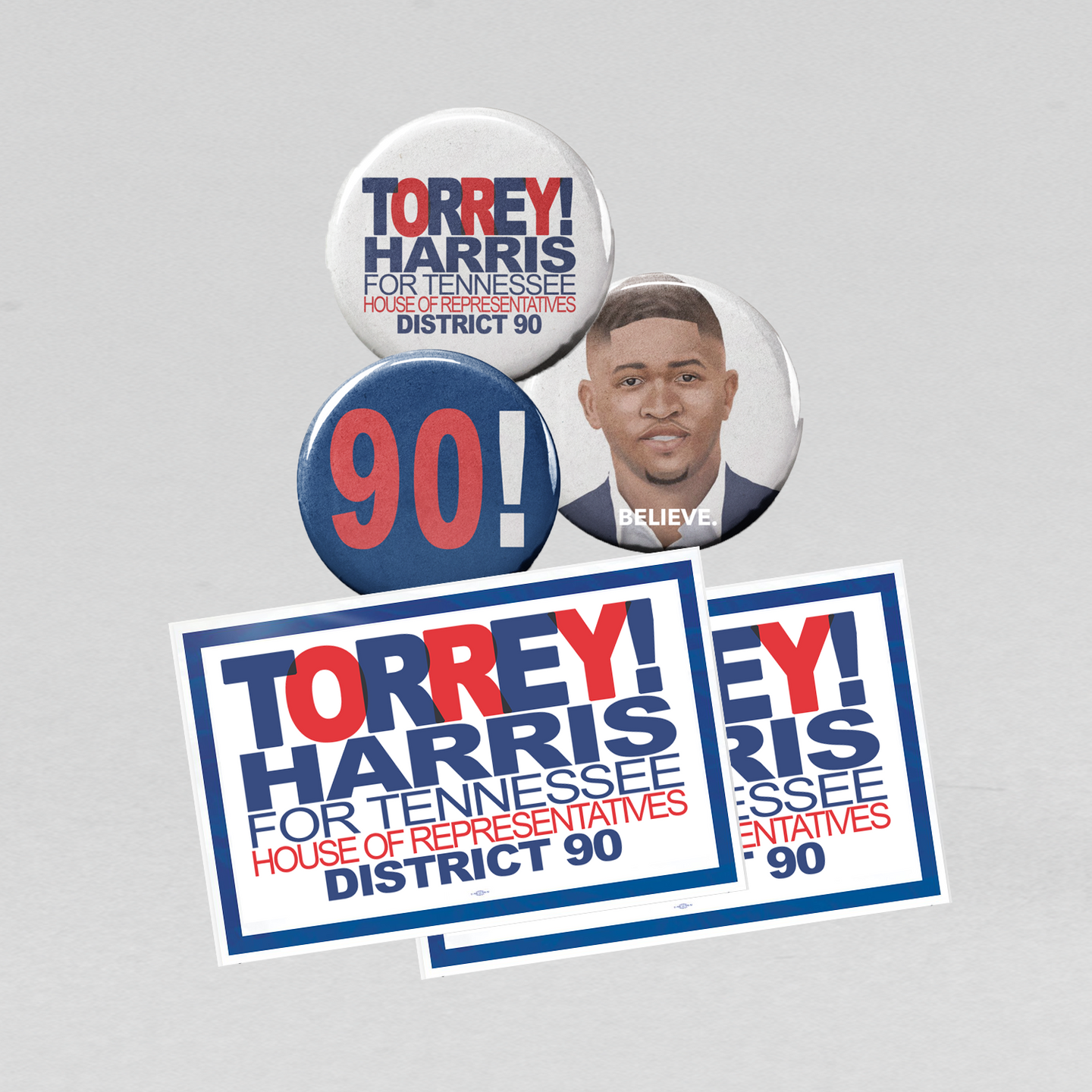 TORREY BUTTON & STICKER PACK