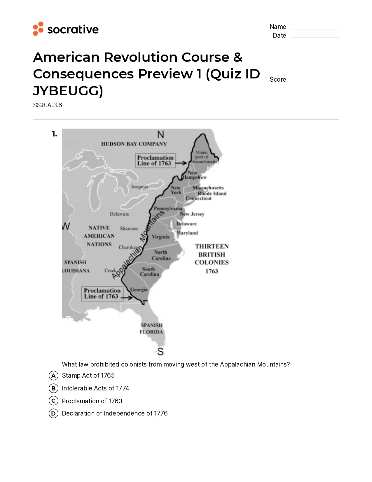 American Revolution Course & Consequences Preview 1
