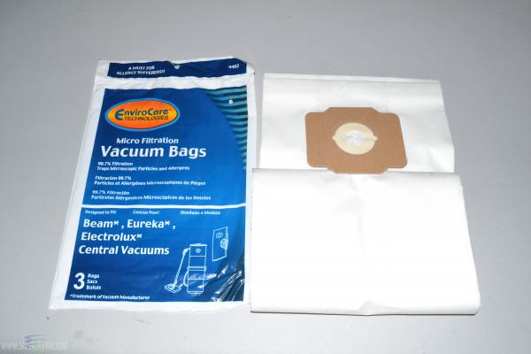 EnviroCare Central Vacuum Replacement Bags for Eureka, Beam, and Electrolux - 3 Pack