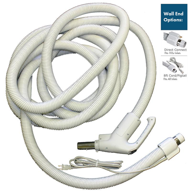 Central Vacuum Hose 35ft. Dual