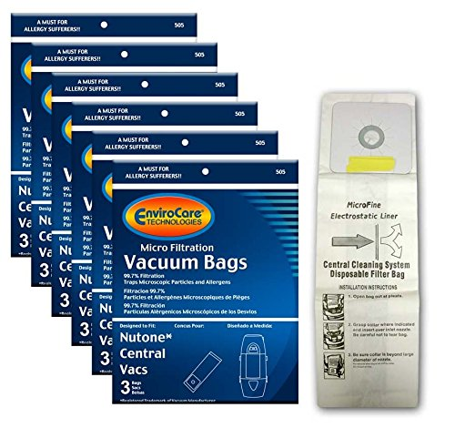 EnviroCare Replacement Bags for Nutone Central Vacuum Systems - 3 Pack