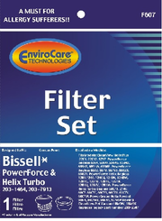 EnviroCare Hepa Inner and Outer Filter Kit for Bissell PowerForce & Helix Turbo