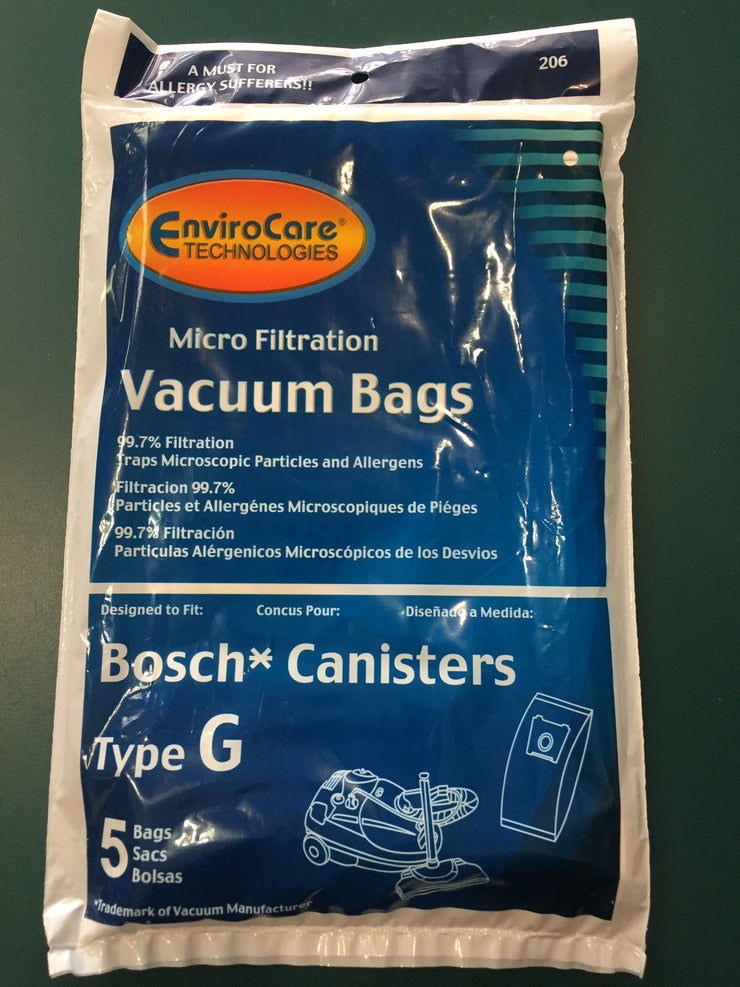 EnviroCare Vacuum Bags for Bosch Type G Canister Vacuums - 5 Pack