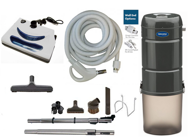 Vacuflo 260 Complete Central Vacuum Package with EL5 Head