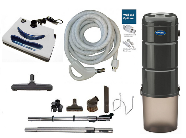 Vacuflo 466Q Complete Central Vacuum Package with EL5 Head