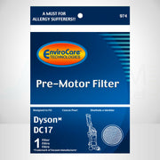 EnviroCare Premium Replacement Pre-Motor Vacuum Cleaner Filter for Dyson DC17
